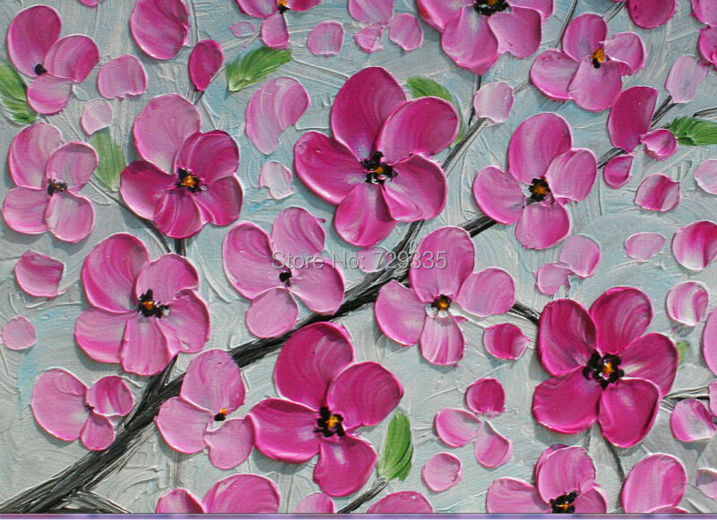 oil painting pink flower - photo #7