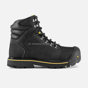 Genuine leather waterproof and keep warn men's work boots Anti-smash steel toe Goodyear safety boots