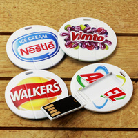 Mini round card usb,coin card usb stick,slim round card usb