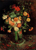 Impression Zinnias and Geraniums flowers oil painting by Van Gogh