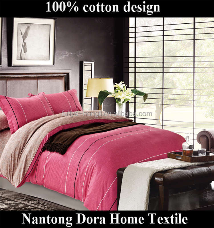 premium 100% egyptian cotton sateen king size duvet cover 5 star pink printed hotel bedding set
