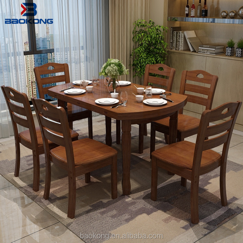 Dining Table Set 6 Chairs Restaurant Wooden Furniture   Buy Chairs And  Tables,6 Seaters Wooden Dining Tables And Chairs,Cheap Dining Room Sets  Product On ...