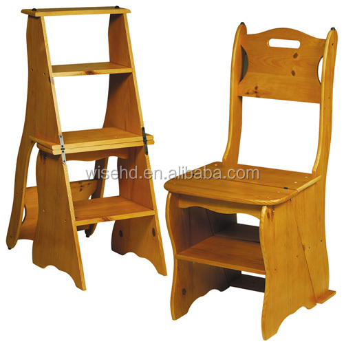 wc437 3 Step Convertible Wood Chairladder Buy Convertible