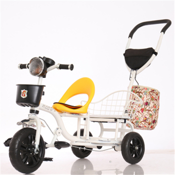 online shopping baby twins tricycle in india kids double seat tricycle children tricycle two seat for twins with mommy bag buy baby tricycle 2 seats