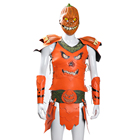 New Design Funny Halloween Costume Men Cosplay Leather Clothing Pumpkin Knight Armor