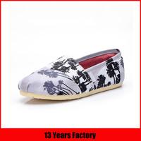 cheap ladies wholesale china printed flat shoe