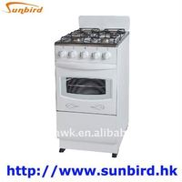 4 burner gas cooking range with electric oven