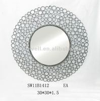 Metal Wall Mirror Frame in Bubbles Shape for Home Decor