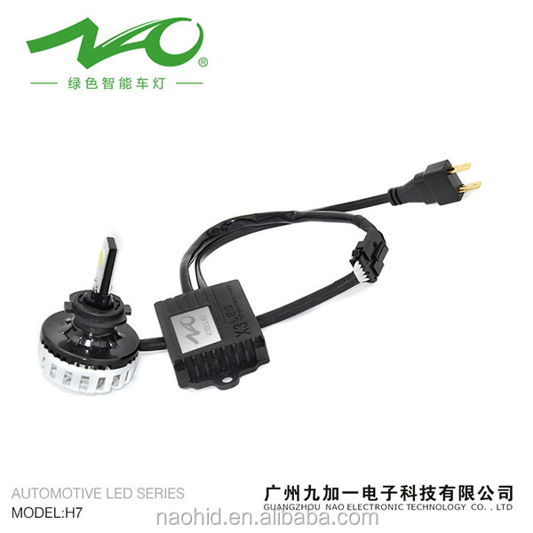 Car led headlight 35W 3200lm best quality replace h7 hi/lo hid xenon bulb