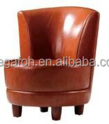 Popular Hot Sale Small Reddish Brown Restaurant Latest Design Sofa(FOH-J818)