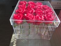 2017 acrylic flower box/acrylic display case