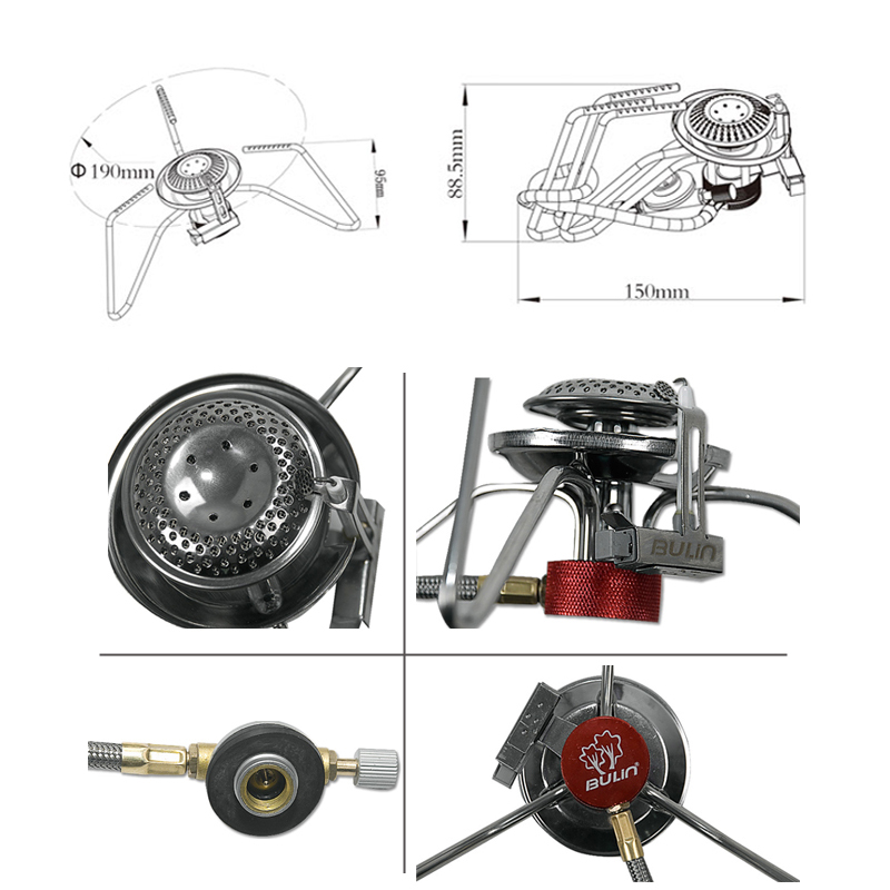 3500W Portable Outdoor Camping Hiking Gas Stove Folding Cooking Burner BOX NN