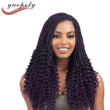 New Design 20 Senegalese Crochet Hair Braiding Pre Twisted Afro Twist Braids