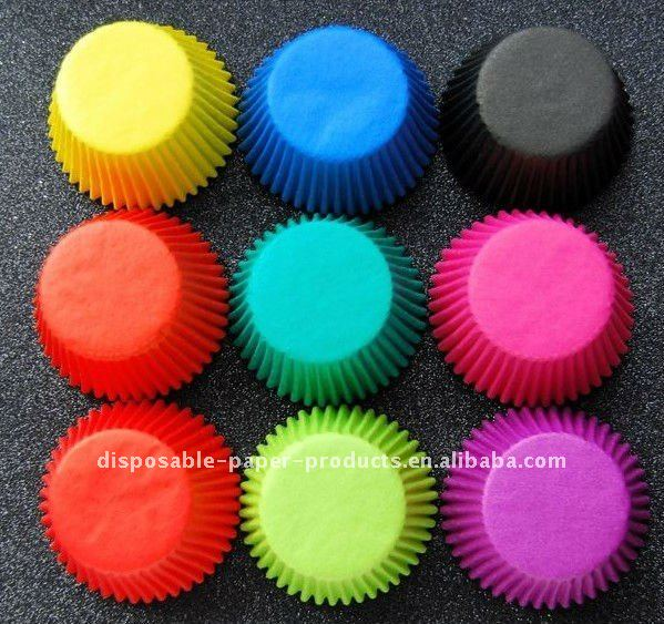 Wholesale Plain Coloured Muffin Cases plain color cupcake liners baking cups
