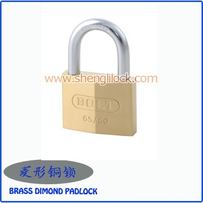 Top Security Solid Brass Diamond/rhombus Padlock With Normal/cross ...