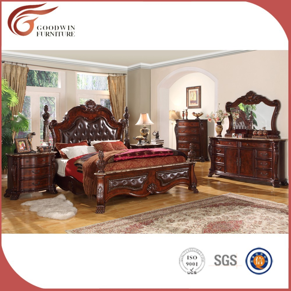 Roble sólido italiano clásico barato dormitorio WA145-Conjunto de ...