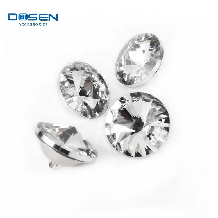 Rhinestone crystal glass stone shirt buttons for sofa garments furniture decoration