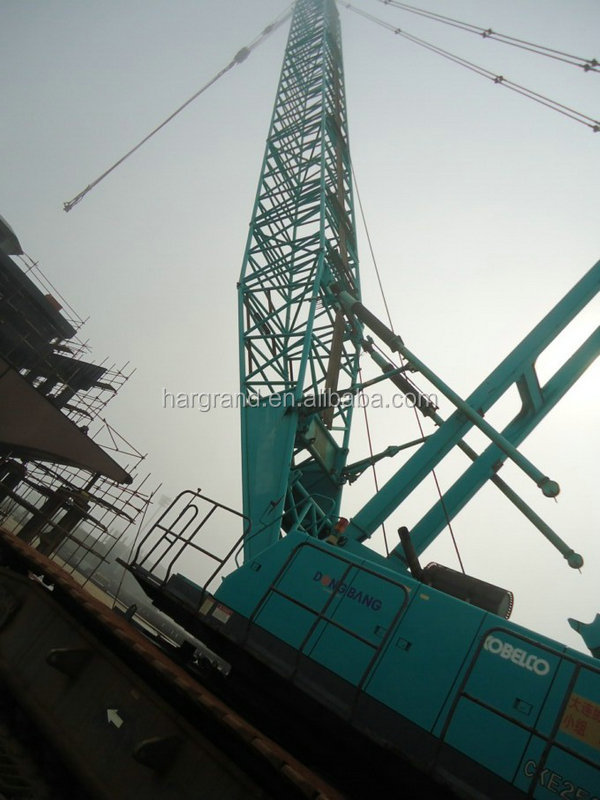 ใช้ Heavy Construction Crawler Crane 250ton kobelco,CKE2500 ชุดขายร้อน