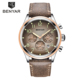 BENYAR BY-5138M Luxury Business Leather Army Military Chronograph Men Quartz Wrist Watches