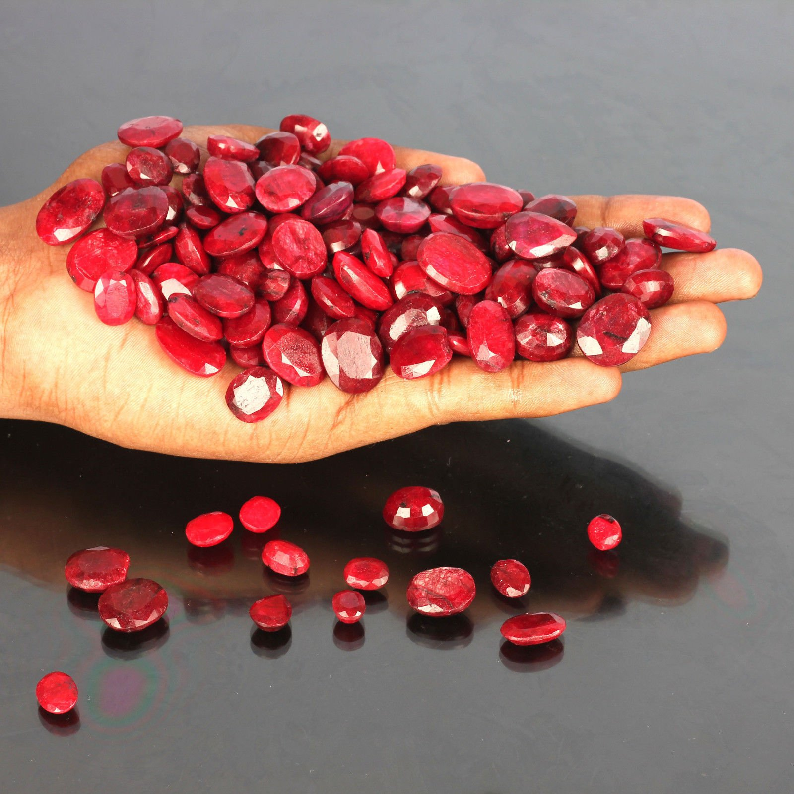 Best Offer ! 100 Ct./7 Pcs Ring Size Gorgeous African Pigeon Blood Red Ruby Loose Gemstones Lot Ruby July Birthstone