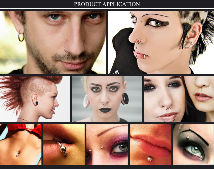 Body piercing jewelry Surgical steel Acrylic ball eyebrow rings