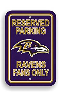 NFL Baltimore Ravens Plastic Parking Sign by Fremont Die