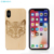 Cheap Custom Laser Engraved Logo Wooden Blank Cell Phone Case For iPhone X