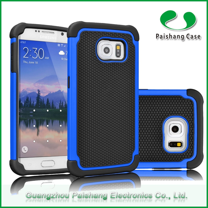 Durable Phone Case Heavy Hybrid TPU+PC+Silicon Rugged Shockproof Protect Football Pattern Back Cover for Sumsung s6