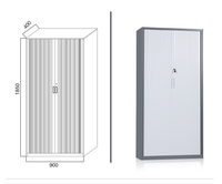 High quality tambour roller shutter door steel office filing cabinet