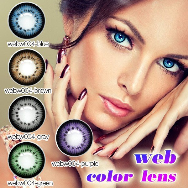 S Black 14.0mm Vial Packing Dolly Eye Color Contact Lens