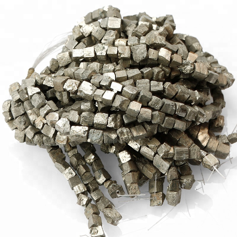 Reasonable Wholesale Genuine Raw Pyrite Nuggets Bead Freeform Iron Gold Box Square Cube Loose Beads 8-20mm Full Strand Beads