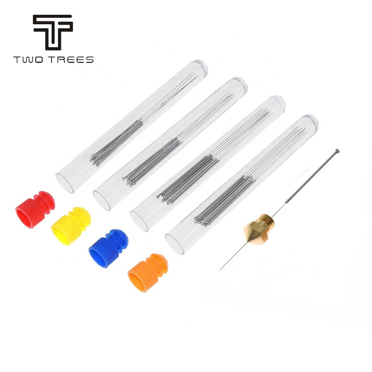 TWOTREES 3D Printer Onderdelen Nozzle Cleaning Kit 10 stuks 0.2mm 0.25mm 0.3mm 0.35mm 0.4mm Cleaner naald Voor 1.75/3 MM Filament