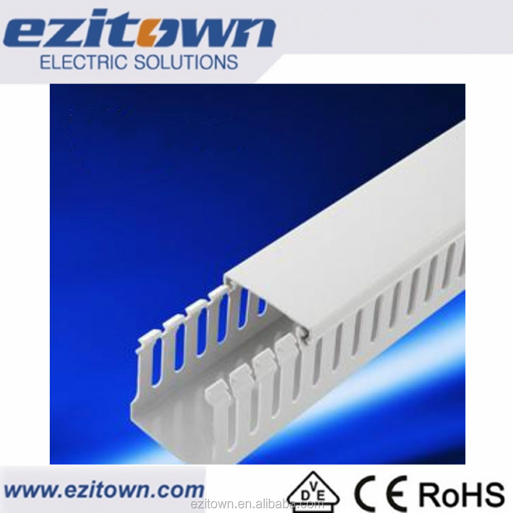 China Wholesales Best Price Popular PVC Cable Trunking New Style Ezitown Customized Size Pack with Carton box Cable Trunking