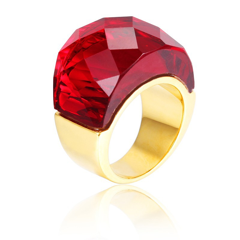 Latest Gold Finger Ring Designs For Women Stainless Steel Ruby ...