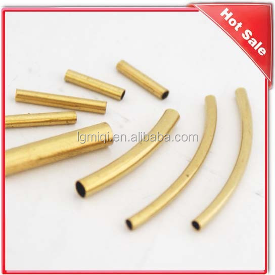 copper garment hollow bend jewelry tube