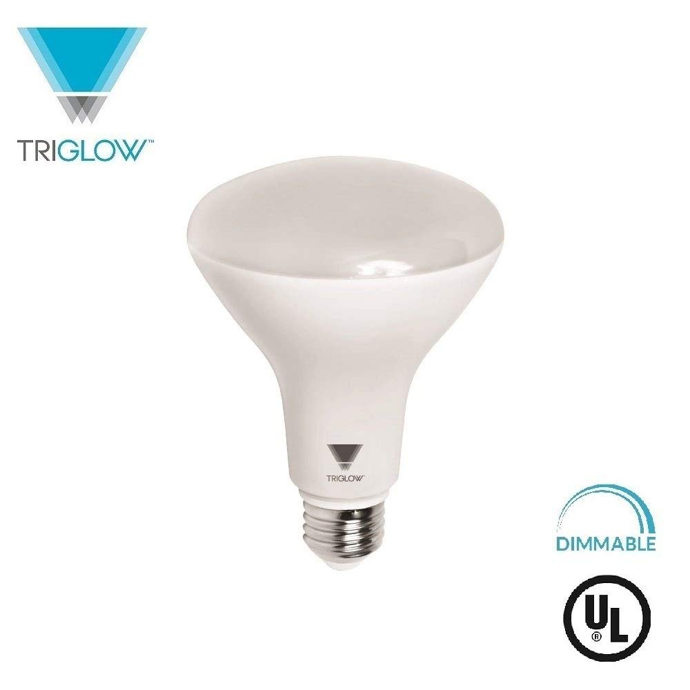 TriGlow T99215 LED 11-Watt (65W Equivalent) BR30 Bulb, 800 Lumen, CRI 90, DIMMABLE 4100K (Cool White), E26 Medium Base, UL Listed
