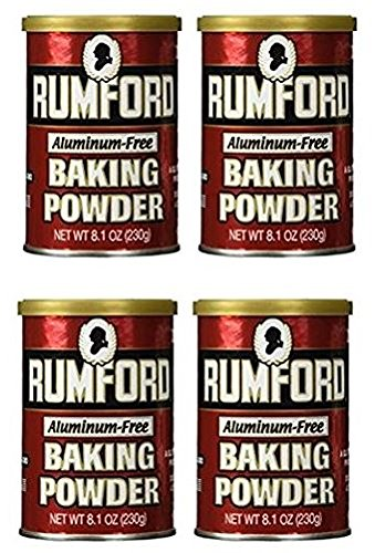 Rumford Baking Powder, 8.1 ounce (Pack of 4)