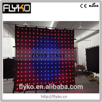 p18cm 3*3M flashlight led video curtain party night show