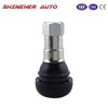 TR412C Tire Valves Chrome Sleeve EPDM Rubber Snap-in Tubeless Valve Stems Wheel Rim Parts Accessories