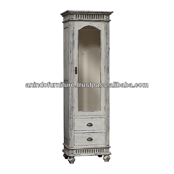 Antique American Distressed Cabinet with 2 Drawers