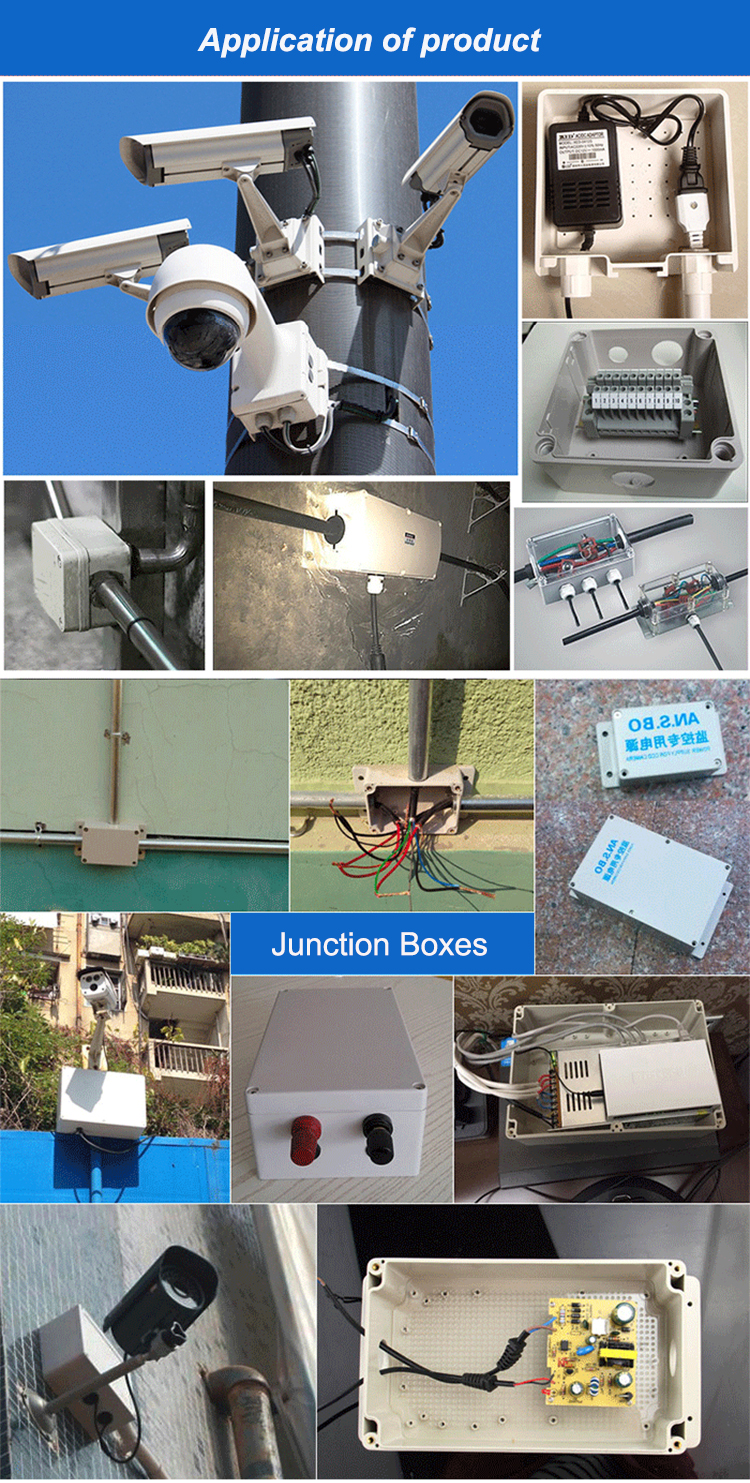 ABS waterproof enclosure plastic junction box Outdoor monitoring power box sealing box with grommets S150 150*110*70mm