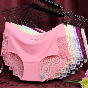 Wholesale Women Sexy Traceless Underwear Lace Seamless Panties 2018 Girls New Design Underwear