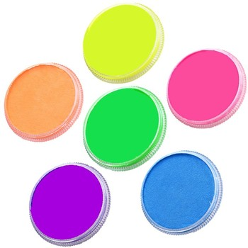 Hypoallergenic party supplies non toxic water based UV face paint round cake professional