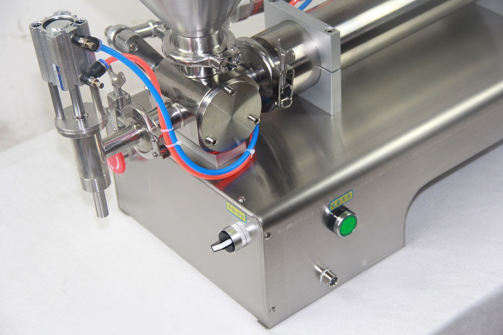 JOYGOAL Semi-automatic hot sauce pneumatic piston cream or paste filling machine