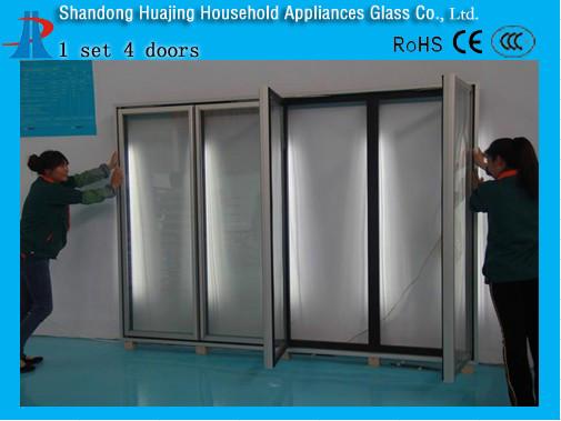 Supermarket Walk In Refrigerator Glass Door Coolershowcase Display