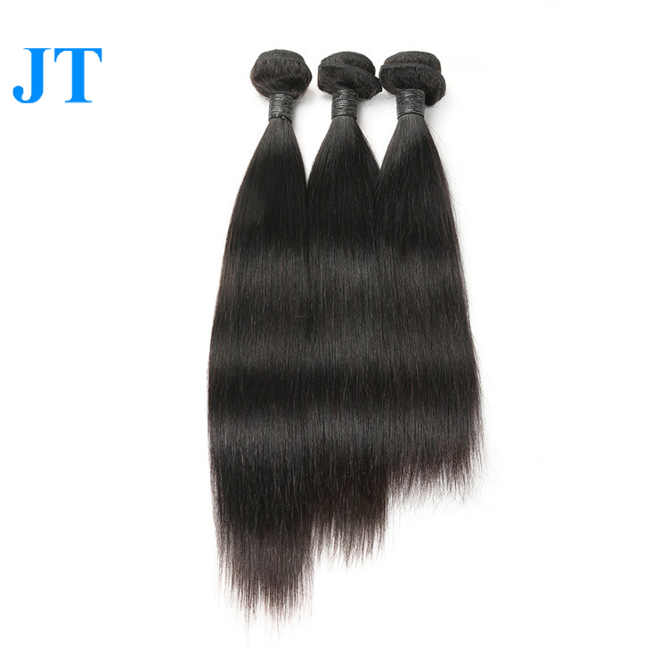No tangle no shedding full cuticle best Raw Virgin hair bundles virgin Indian hair weft hair weave