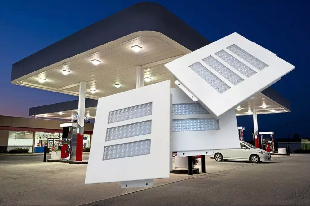 HTB 150w led gas station canopy lights