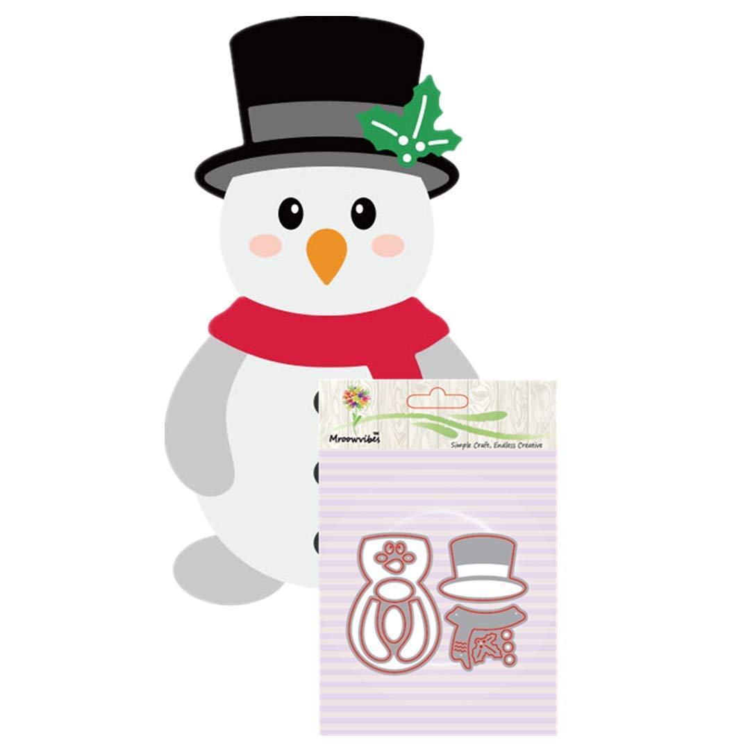 Cutting Dies,Pollyhb Metal Cutting Dies Stencils Scrapbooking Embossing DIY Crafts,Christmas Deer Snowman Christmas Tree,for Card Making Scrapbooking (K:90x70mm)