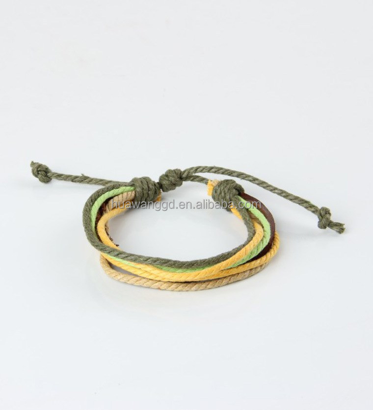 Unisex double circles bracelet cuff design leather cord bracelet models jewelry spring items