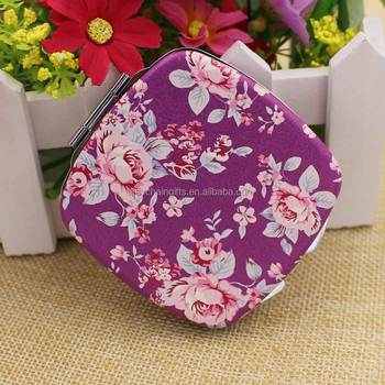Promotion product photo decorative compact mirror for ladies